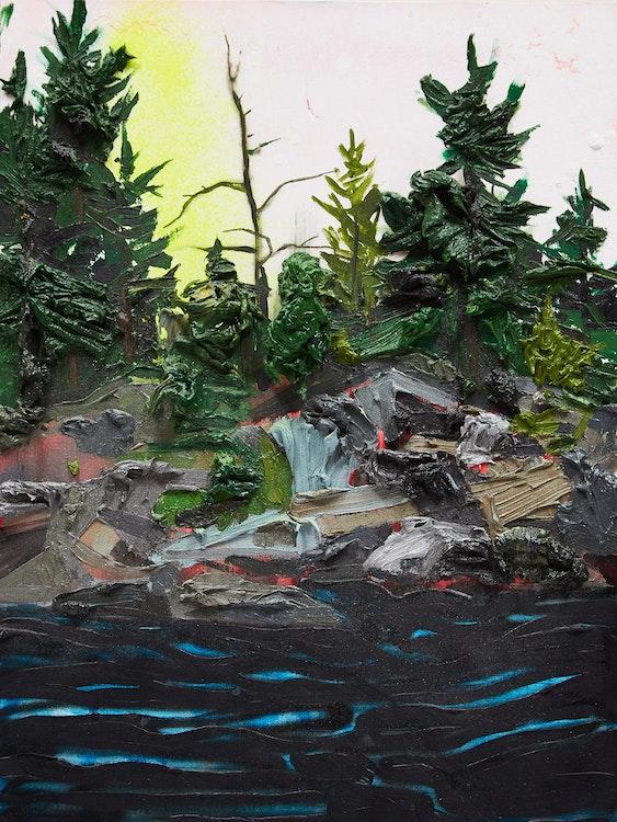 Artwork by Kim Dorland,  Untitled (Yellow Blast)