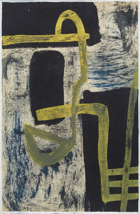 Artwork by Rolph Scarlett,  Untitled (Black, White, Yellow)