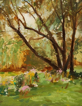 Artwork by George Henry Griffin, Tree in Spring