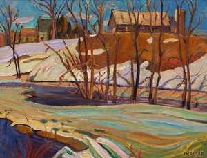 Artwork by Ralph Wallace Burton, Spring Creek, Lanark County, Ont
