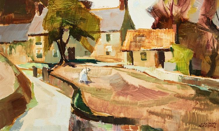 Artwork by Hilton MacDonald Hassell,  La Ferme, Fliquet  (Jersey Channel Isles)