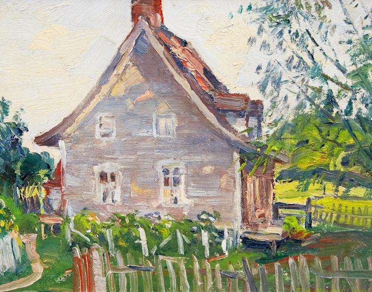 Artwork by Albert Edward Cloutier,  Summer Landscape