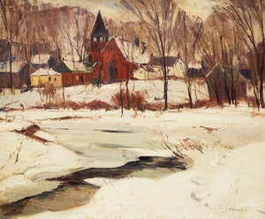Artwork by Frank Leonard Brooks, Unionville January