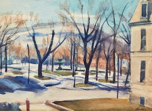 Artwork by Jack Beder, Winter Landscape