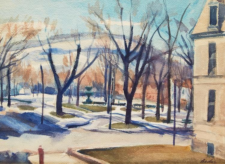 Artwork by Jack Beder,  Winter Landscape