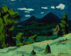 Artwork by Jeanne Leblanc Rheaume, Evening Landscape