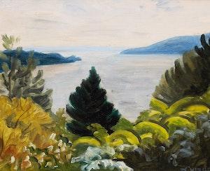 Artwork by John Goodwin Lyman, Lake Massawippi