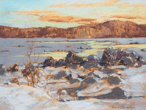 Artwork by Horace Champagne, Movement de la Glace, St. Lawrence River, near Quebec City