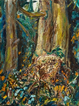 Artwork by Arthur Lismer, Tree in the Forest, BC