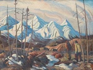 Artwork by Henry George Glyde, Alaska Highway, Northern British Columbia