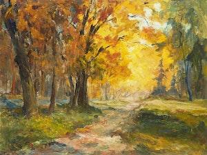 Artwork by Guttorn Otto, Woodland Scene