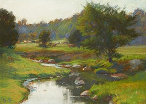 Artwork by Frederick Henry Brigden, On the Upper Reaches of the Don