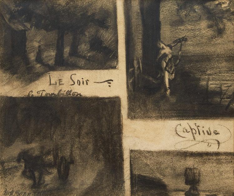 Artwork by Marc-Aurèle de Foy Suzor-Coté,  Four Romantic Studies