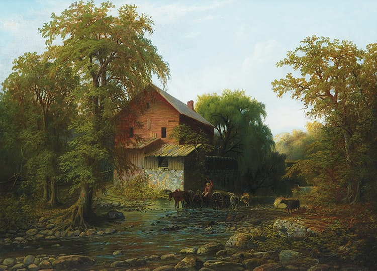 Artwork by Homer Ransford Watson,  The Old Mill