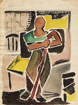 Artwork by Marjorie Stead, Figure Study