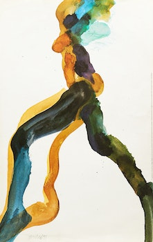 Artwork by Robert Markle, Graham Coughtry & Gerald Gladstone, Figure Study; Figure Study; Abstract Composition