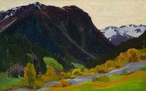Artwork by Clarence Alphonse Gagnon, Dans les Alps