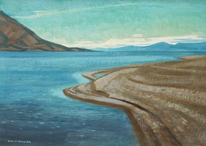 Artwork by Alan Caswell Collier, Kluane Lake, Yukon, From South End