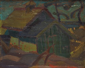 Artwork by Gordon McKinley Webber, House by the Water
