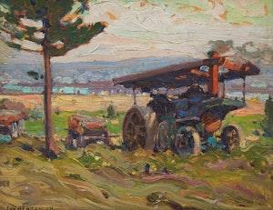 Artwork by John William Beatty, Farm Machinery