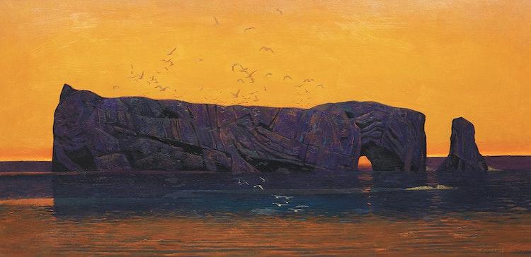 Artwork by Charles Fraser Comfort,  Midsummer Dawn, Percé