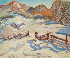 Artwork by Kathleen Frances Daly Pepper, Winter Charlevoix (1931)