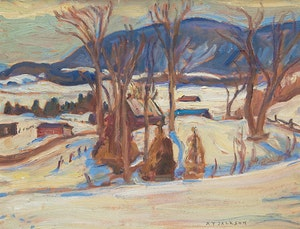 Artwork by Alexander Young Jackson, Hills Near Ripon, Quebec