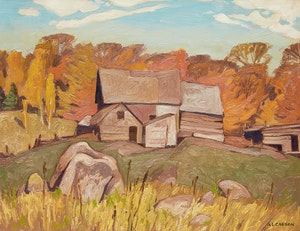 Artwork by Alfred Joseph Casson, Farm Near Baptiste