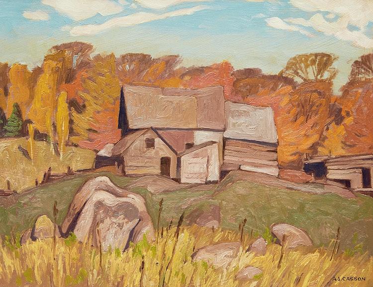 Artwork by Alfred Joseph Casson,  Farm Near Baptiste