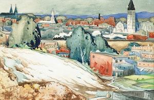 Artwork by Marc-Aurèle Fortin, Vue d'Hochelaga