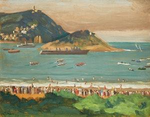 Artwork by John Goodwin Lyman, Regatta at San Sebastián