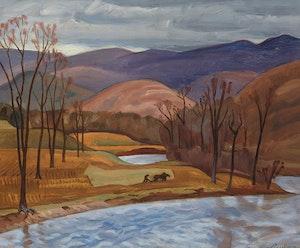 Artwork by John Goodwin Lyman, Fall Ploughing
