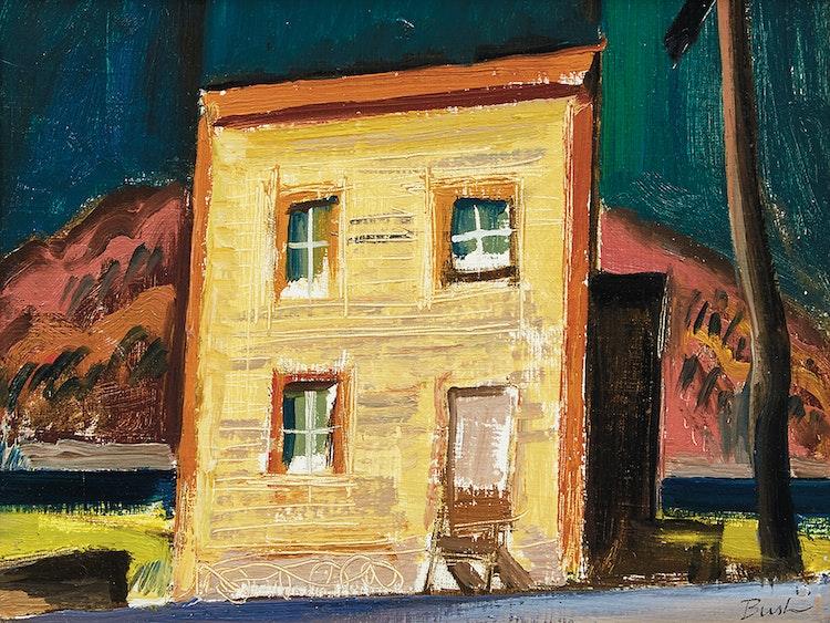 Artwork by Jack Hamilton Bush,  House on the Highway