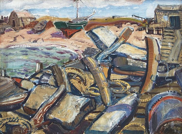 Artwork by Arthur Lismer,  Fisherman's Gear, Cape Breton Island, Nova Scotia
