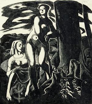 Artwork by Edwin Headley Holgate, Bathers