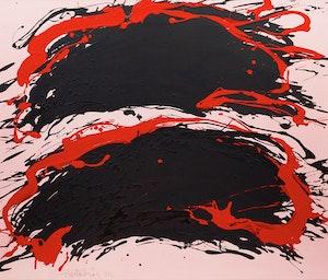 Artwork by Jacques Hurtubise, Backsplash Rose
