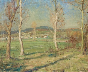 Artwork by Alexander Young Jackson, October Morning, Épisy (1909)