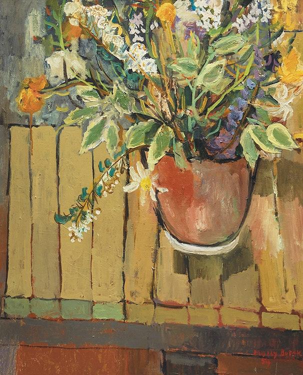 Artwork by Molly Lamb Bobak,  Flowers 4