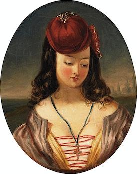 Artwork by Cornelius Krieghoff, Portrait of Louise