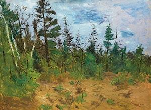 Artwork by William Goodridge Roberts, Edge of Woods in Spring, New Brunswick