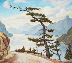 Artwork by William Percival Weston, Howe Sd. from Squamish Road