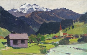 Artwork by Clarence Alphonse Gagnon, The Alps