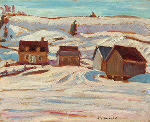 Artwork by Alexander Young Jackson, Old Farm Buildings, Quebec