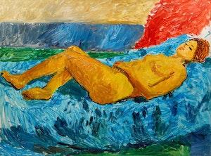 Artwork by William Goodridge Roberts, Nude Lying on Blue
