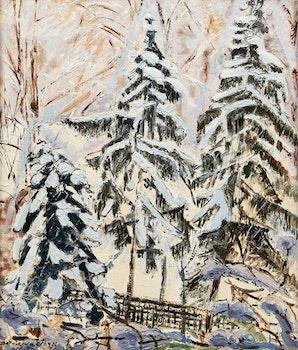 Artwork by Paraskeva Plistik Clark, Forest in Winter