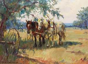 Artwork by Manly Edward MacDonald, Noon Day Rest