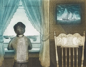 Artwork by David Lloyd Blackwood, The Flora S. Nickerson Coming Home From The Labrador