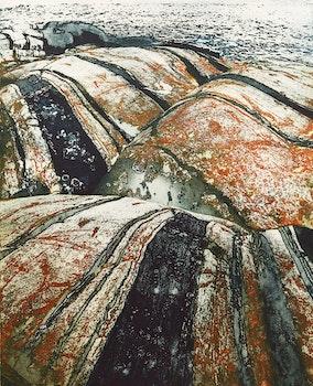 Artwork by Edward John Bartram, Rolling Rocks, Northern Image Series