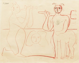Artwork by after Pablo Picasso, Mes dessins d'Antibes no. 14