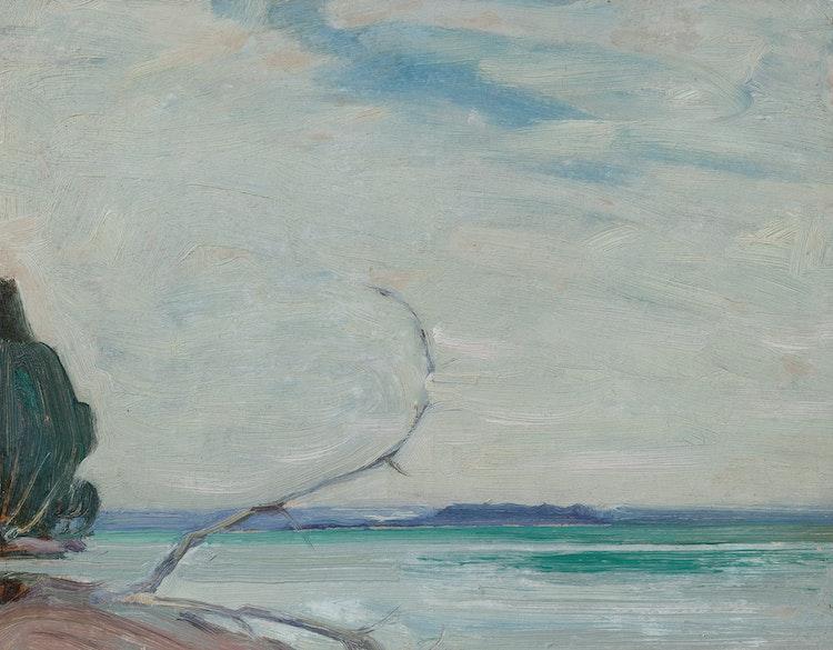 Artwork by James Edward Hervey MacDonald,  Roches Point, Lake Simcoe